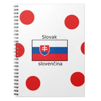 Cadernos Espiral Língua e design eslovacos da bandeira de Slovakia