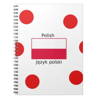 Cadernos Espiral Língua e design poloneses da bandeira do Polônia