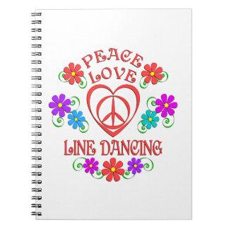 Cadernos Espiral Linha de amor dança da paz