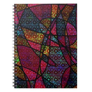 Cadernos Espiral Linhas pretas corajosas & texturas coloridos,