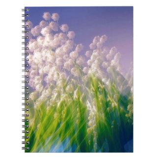 Cadernos Espiral Lírio da dança do vale no azul