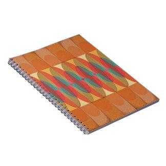Cadernos Espiral Listra ondulada da cor