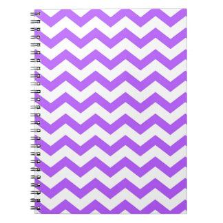 Cadernos Espiral listras roxas da viga