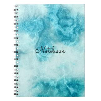 Cadernos Espiral livro artística bonito de mármore azul da textura
