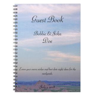 Cadernos Espiral Livro de hóspedes do céu azul