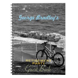 Cadernos Espiral Livro de hóspedes do costume da bicicleta e do