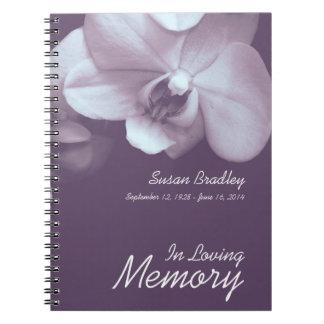 Cadernos Espiral Livro de hóspedes floral do funeral da fotografia