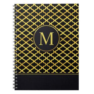 Cadernos Espiral Livro de hóspedes sem emenda do monograma | do