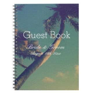 Cadernos Espiral Livro de hóspedes tropical do casamento do destino