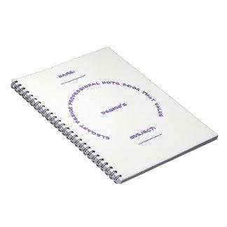 Cadernos Espiral livro de nota profissional do design elegante que