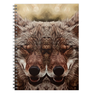 Cadernos Espiral Lobo psicadélico