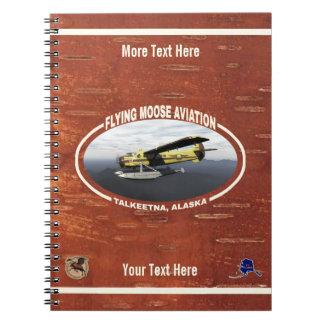 Cadernos Espiral Lontra de de Havilland DH3-C da aviação dos alces