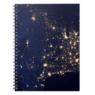 Cadernos Espiral Luzes da NASA do espaço EUA