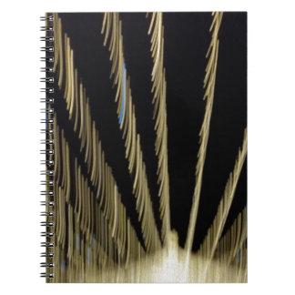 Cadernos Espiral Luzes de Natal douradas
