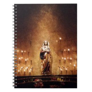 Cadernos Espiral Madonna & criança