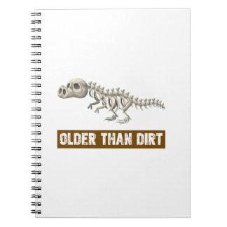 Cadernos Espiral Mais velho do que a sujeira