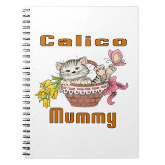 Cadernos Espiral Mamã do gato de chita