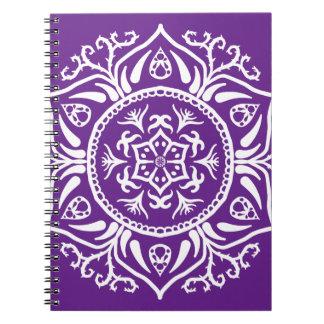 Cadernos Espiral Mandala da beringela
