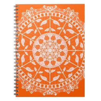 Cadernos Espiral Mandala da papoila