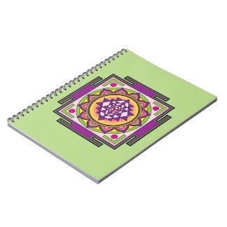 Cadernos Espiral Mandala de Sri Yantra
