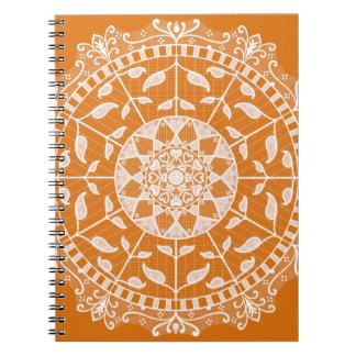 Cadernos Espiral Mandala do tarte de abóbora