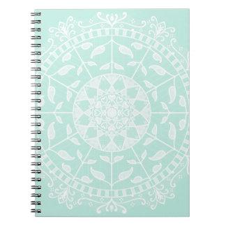 Cadernos Espiral Mandala do vidro do mar