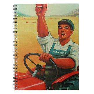 Cadernos Espiral Manifesto chinês original do poster da propaganda