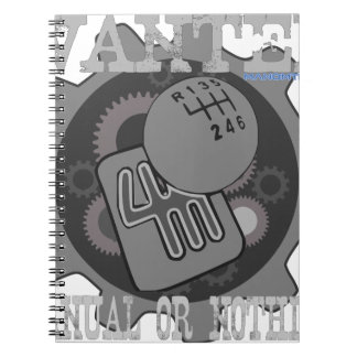 Cadernos Espiral manual querido ou nada (caixa de engrenagens)