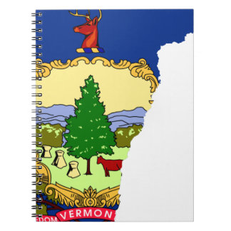 Cadernos Espiral Mapa da bandeira de Vermont