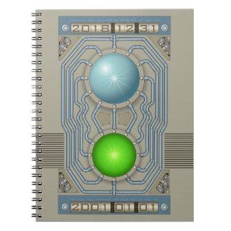 Cadernos Espiral Máquina do tempo de Steampunk