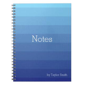 Cadernos Espiral Máscaras de Ombre azul