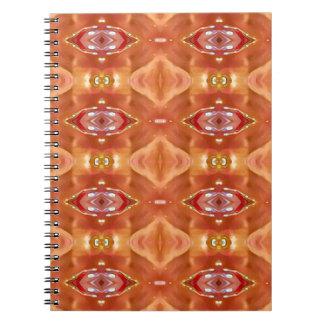 Cadernos Espiral Máscaras do design festivo moderno do pêssego
