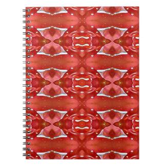 Cadernos Espiral Máscaras do design festivo moderno vermelho