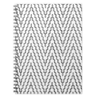 Cadernos Espiral Matéria têxtil indonésia ondulada abstrata