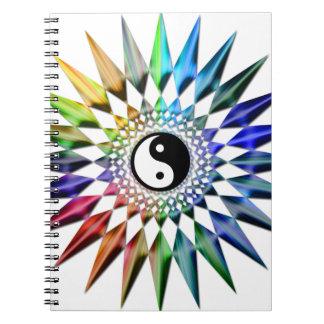 Cadernos Espiral Meditação colorida Tao da ioga calma do zen de Yin