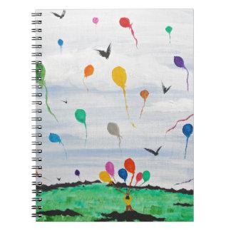 Cadernos Espiral Menino com os balões