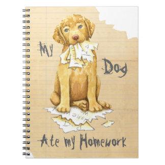 Cadernos Espiral Meu Chessie comeu meus trabalhos de casa
