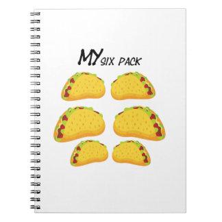 Cadernos Espiral Meu Gym engraçado do exercício da malhação do Taco