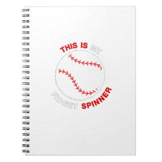 Cadernos Espiral Meu presente engraçado do basebol do softball do