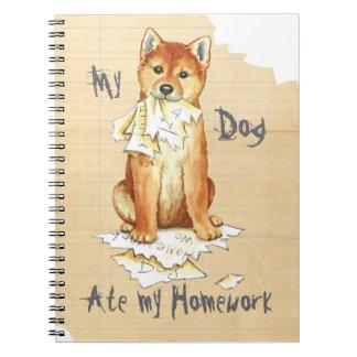 Cadernos Espiral Meu Shiba Inu comeu meus trabalhos de casa