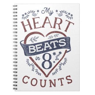 Cadernos Espiral Meus batimentos cardíacos em uma dança de 8