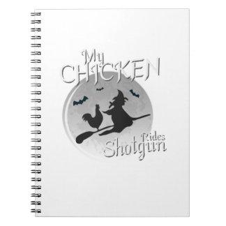 Cadernos Espiral Minha galinha monta presentes do animal de