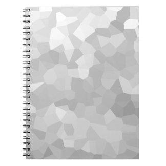 Cadernos Espiral Moderno - abstrato cinzento e branco da forma do