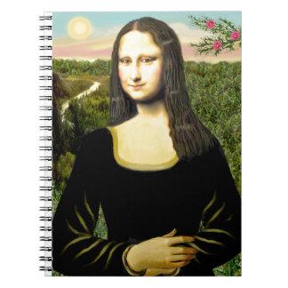 Cadernos Espiral Mona Lisa - adicione um animal de estimação