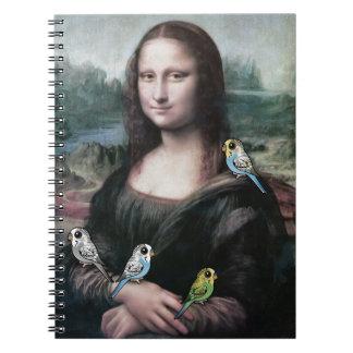 Cadernos Espiral Mona Lisa & Budgies