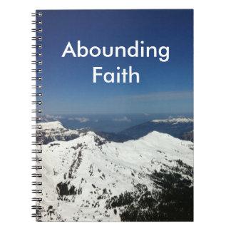 Cadernos Espiral Montanhas de abundância do jornal da fé