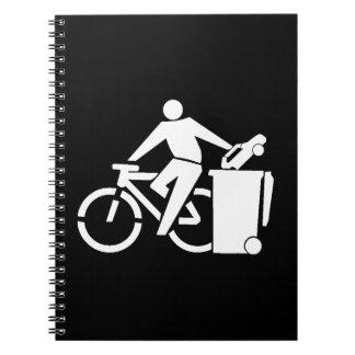 Cadernos Espiral Monte uma bicicleta não um carro