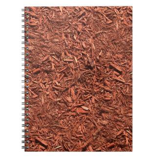 Cadernos Espiral mulch detalhado do cedro vermelho para o