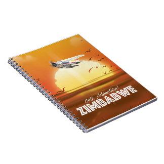Cadernos Espiral Na aventura! Poster de viagens de Zimbabwe