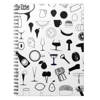 Cadernos Espiral Na cozinha